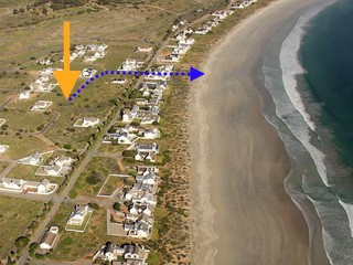 Location of stand & permanent path to beach