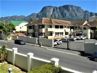 View of the back of Table Mountain from balcony.